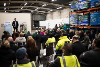 Opening event of FareShare Northern Ireland's new storage facility near Belfast