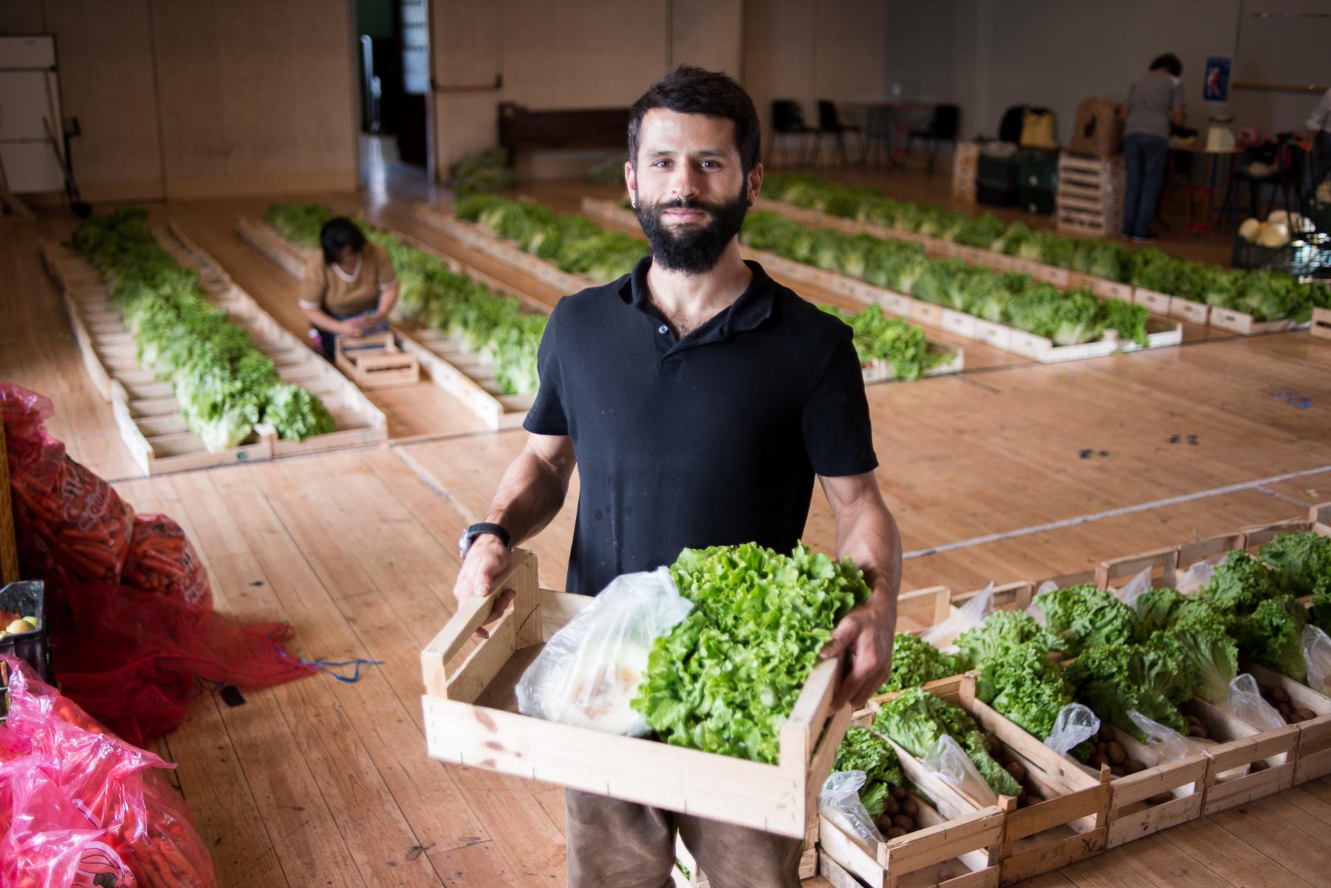 Member of Fruta Feia - Portugese organisation fighting food waste