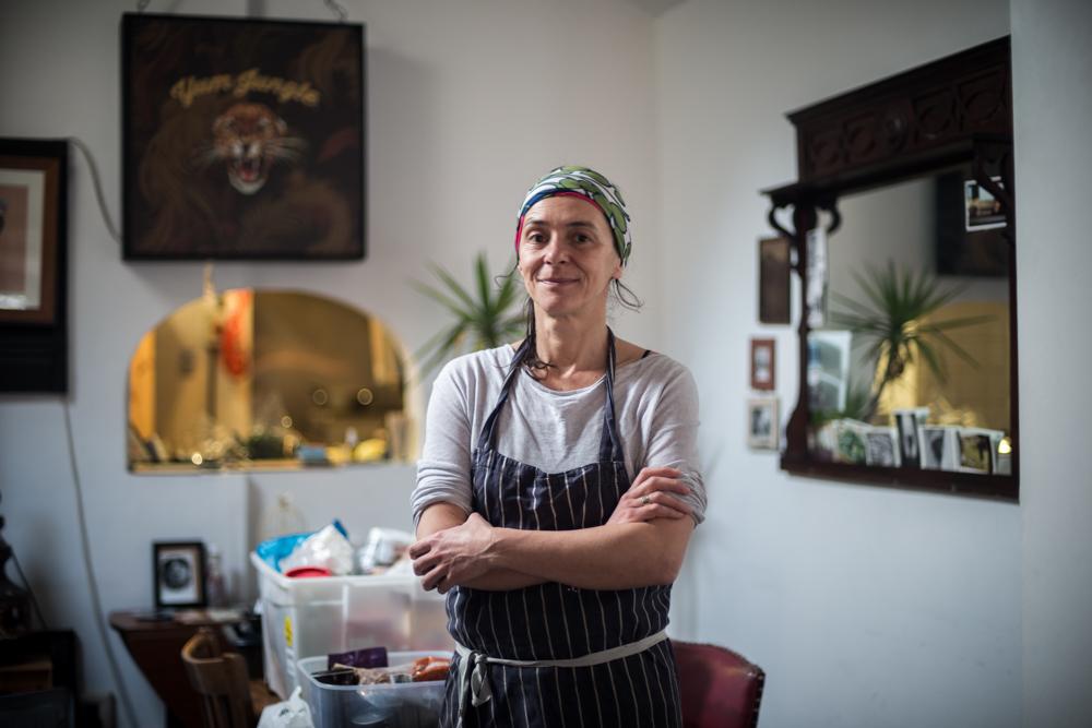 Dinner Exchange London Volunteer - Portrait of Food Waste Warrior as part of my documentary photography project on food waste - Documentary Photographer Chris King
